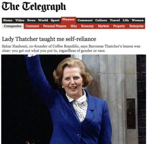 Sahar-Hashemi-Telegraph-Margaret-Thatcher-Strength-Resillience-Entrepreneur